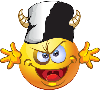 Emoticon with devil hat