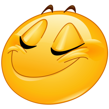 Express your smugness with these smug looking emoticon