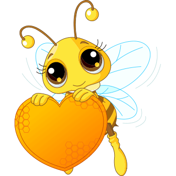 Bee with its heart.
